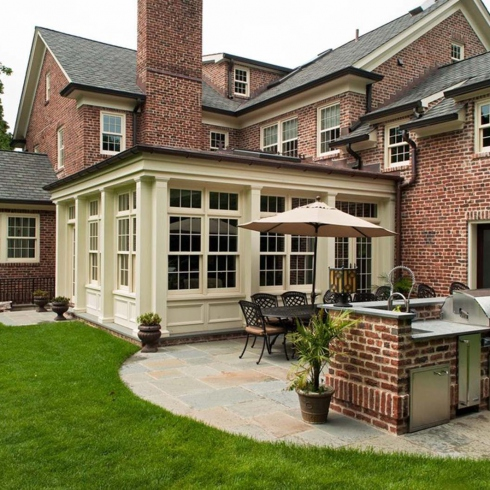 small-outdoor-kitchens-Exterior-Traditional-with-none-